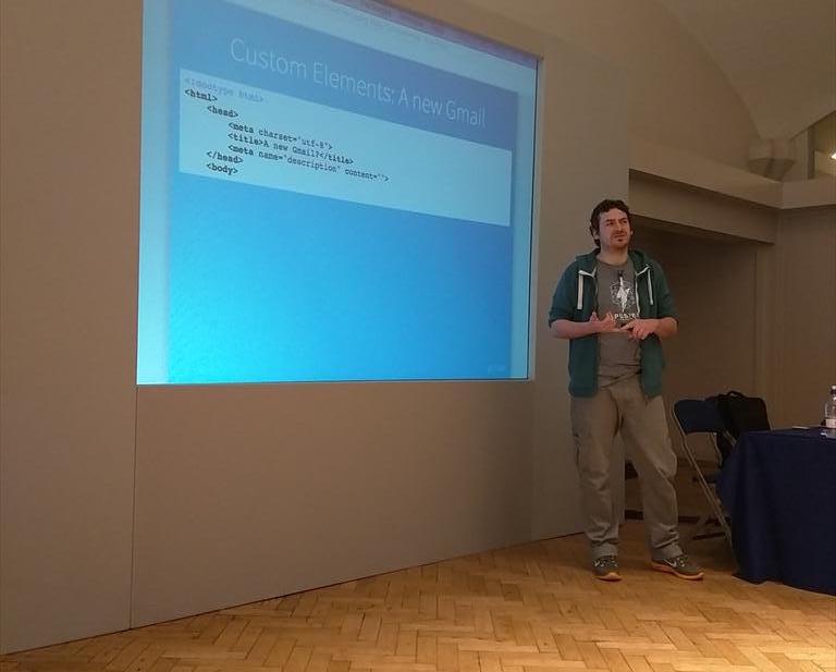 Phil Leggetter speaking at DevWeek 2015