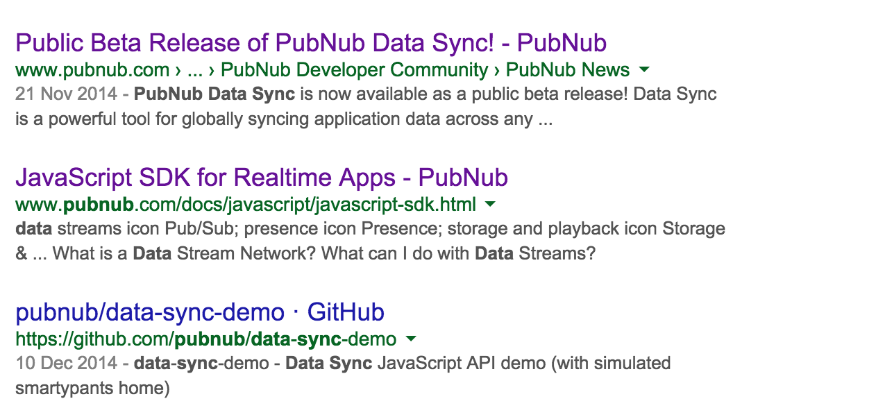 Where has PubNub Data Sync gone?