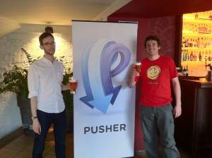 Phil Leggetter with co-founder of Pusher, Damien Tanner