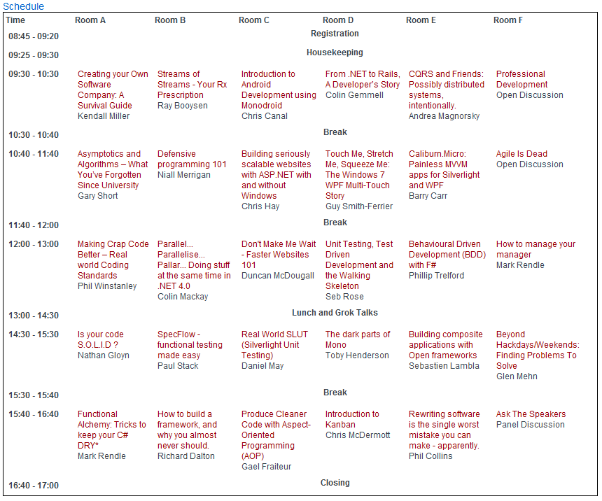 programme schedule essay To see how your first year of classes at columbia business school might look, check out the sample schedule below classes are 90 minutes in.